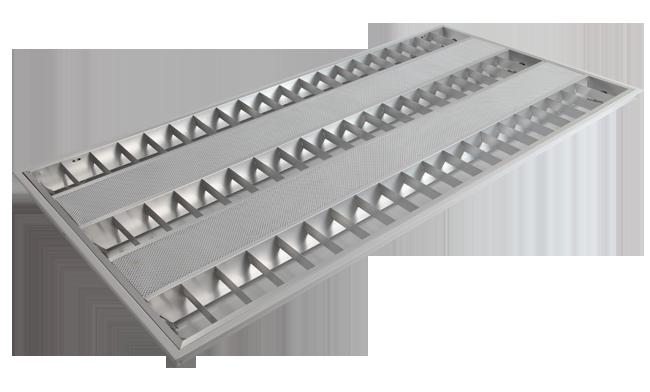 T8  3x40W 嵌入式豪华型格栅灯盘600x1200mm 595x1195mm 605x1205mm (I格/V格)