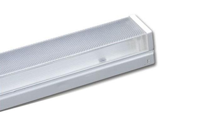 T8灯管支架 1x20W  电感/电子 扁方型棱晶罩支架/单支645x100x88mm