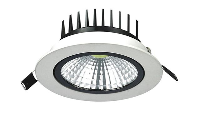 LED  9W COB 天花灯开孔115mm  黄光白光中性光