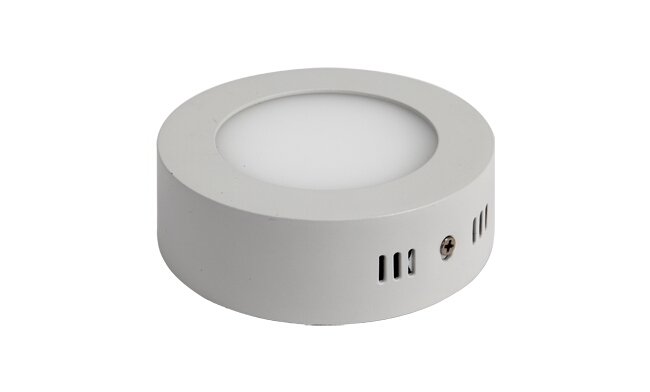 LED 6W 圆形明装面板灯 外形尺寸125x40mm 白光中性光黄光