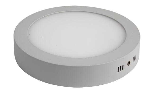 led 18w 圆形明装面板灯 外形尺寸225x40mm 白光中性光黄光