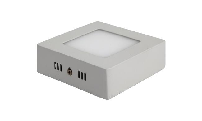 LED 6W 方形明装面板灯 外形尺寸125x125mm 白光中性光黄光