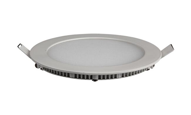 超薄LED面板灯 12W 圆形 开孔155mm  白光中性光黄光