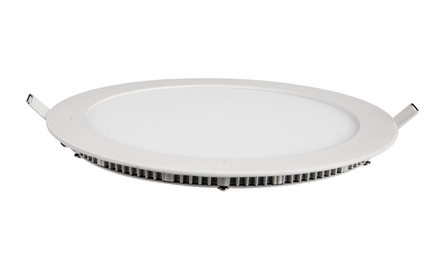 超薄LED面板灯 18W 圆形 开孔205mm 白光中性光黄光
