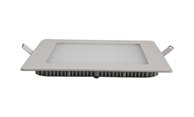 12W 超薄LED面板灯 方形 开孔155x155mm 白光中性光黄光