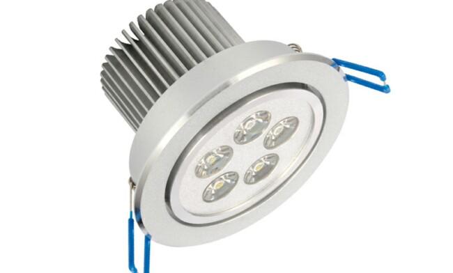 LED 5W天花灯(单颗透镜) 开孔92mm 黄光白光中性光