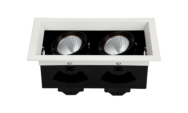 LED格栅射灯 14W 开孔尺寸200x102mm