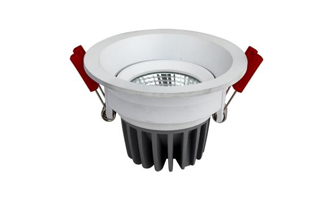 LED 7W 圆形COB深孔嵌灯 可调角度 开孔80mm  黄光白光中性光