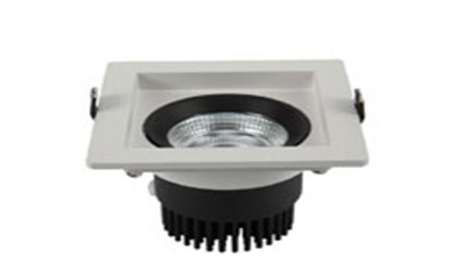 LED 9W 3寸方形深孔 COB 嵌灯 开孔95x95mm黄光白光中性光