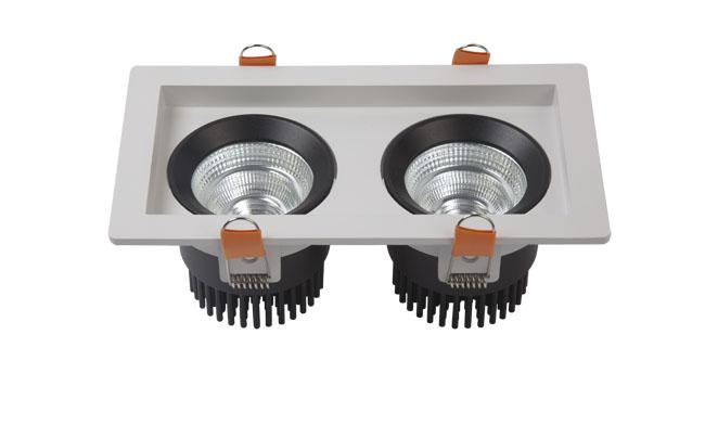 LED格栅射灯 18W 开孔195x95mm