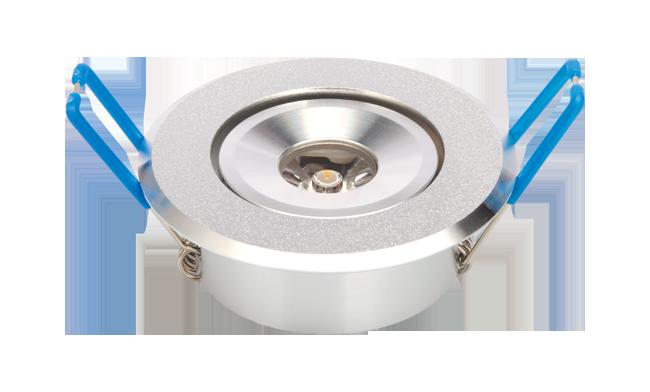 LED 1W 天花灯(单颗透镜) 开孔55mm 黄光白光中性光
