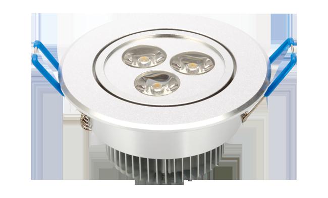 LED 3W 天花灯(单颗透镜)  开孔70mm 黄光白光中性光