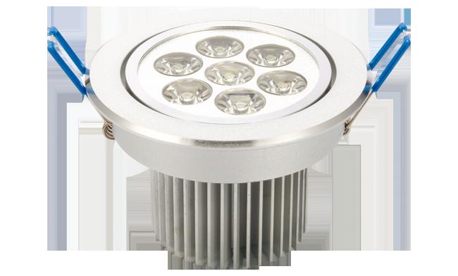LED 7W  天花灯(单颗透镜) 开孔92mm  黄光白光中性光