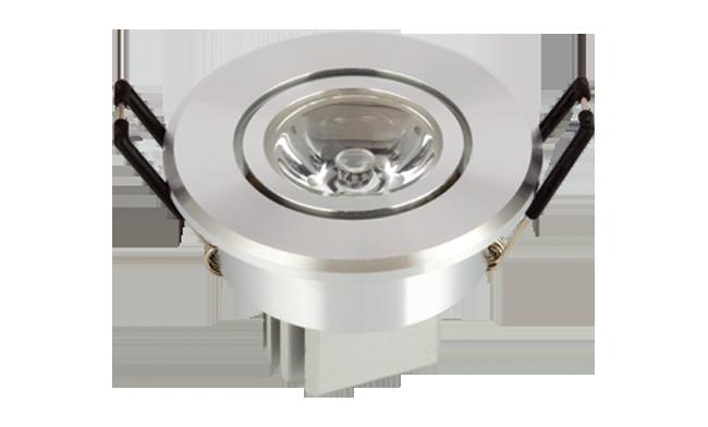 LED 1W 内斜边天花(连体透镜) 开孔55mm 黄光白光中性光