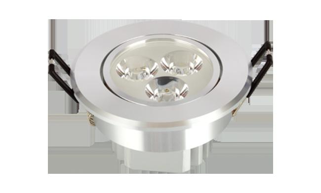 LED 3W内斜边天花灯(连体透镜)开孔72mm 黄光白光中性光