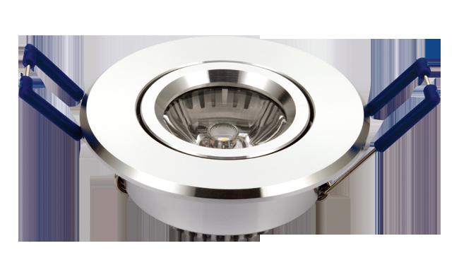 LED 1W连体透镜 天花灯 开孔55mm  黄光白光中性光