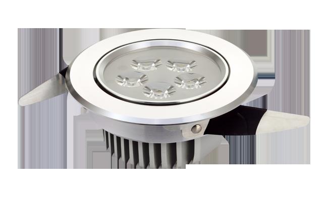 LED 5W 连体透镜 天花灯 开孔95mm  黄光白光中性光