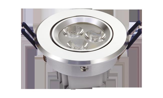 LED 3W 连体透镜天花灯 开孔73mm   黄光白光中性光