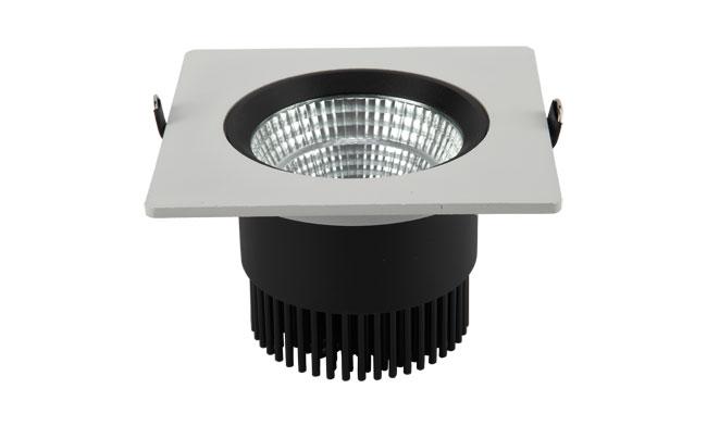 LED 4寸12W 方形COB嵌灯 开孔115mm黄光白光中性光