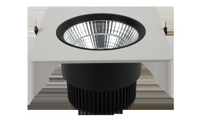 LED  6寸24W 方形COB嵌灯 开孔145mm  黄光白光中性光