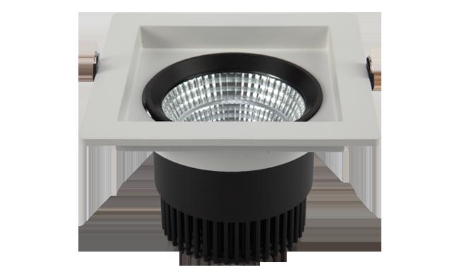 LED 5寸18W 方形深孔COB 嵌灯 开孔140x140mm   黄光白光中性光