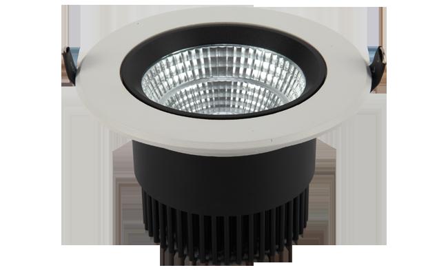LED 4寸12W  COB 圆形嵌灯 开孔118mm  黄光白光中性光