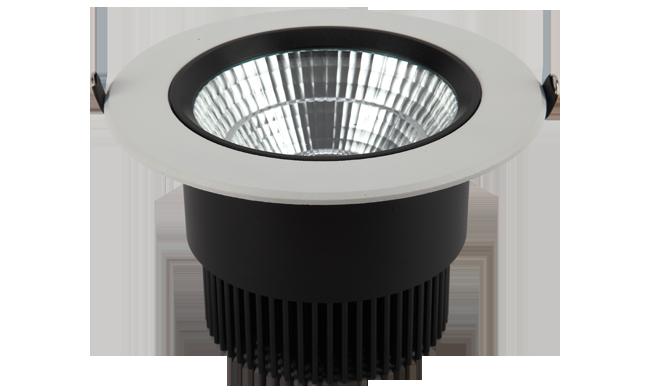 LED 6寸24W COB 圆形嵌灯 开孔145mm 黄光白光中性光