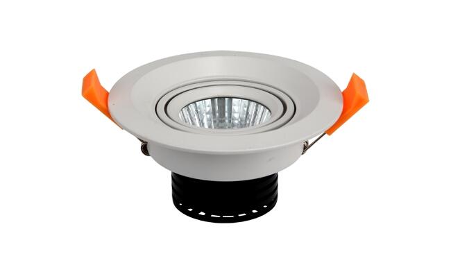 LED 5W 360度COB圆形 嵌灯 开孔81mm 黄光白光中性光