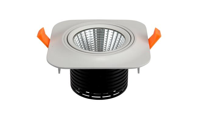 LED 5W 360度 COB 方形嵌灯 开孔82x80mm 黄光白光中性光