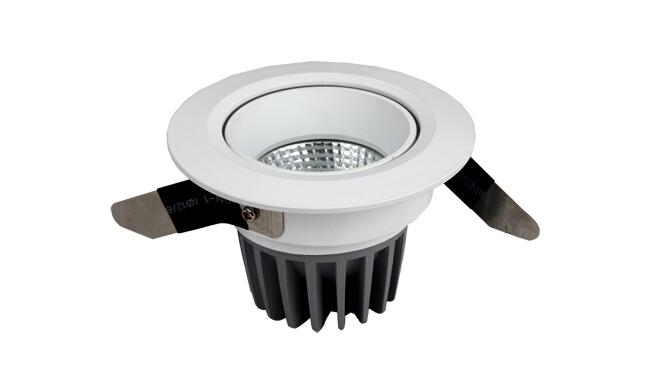 LED  7W COB 天花灯 可调角度 开孔80mm  黄光白光中性光