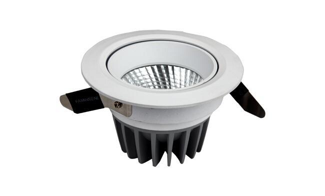LED 12W COB 天花灯 可调角度 开孔90mm黄光白光中性光