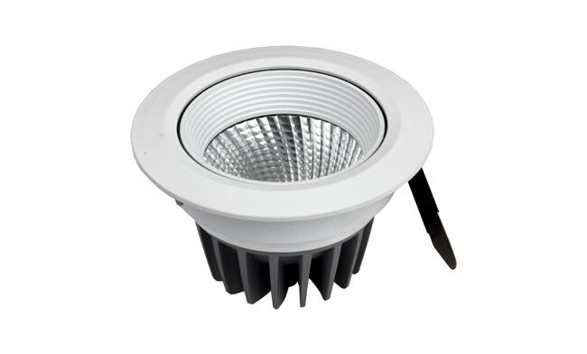 LED 12W cob天花灯 可调角度 开孔90mm  黄光白光中性光