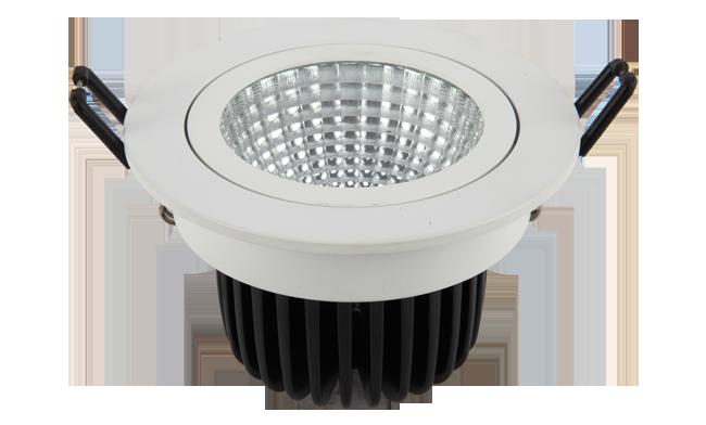 LED 9W COB 嵌灯可调开孔105mm 黄光白光中性光