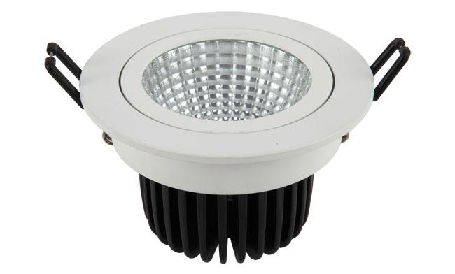 LED 15W COB 嵌灯 可调角度 开孔135mm 黄光白光中性光
