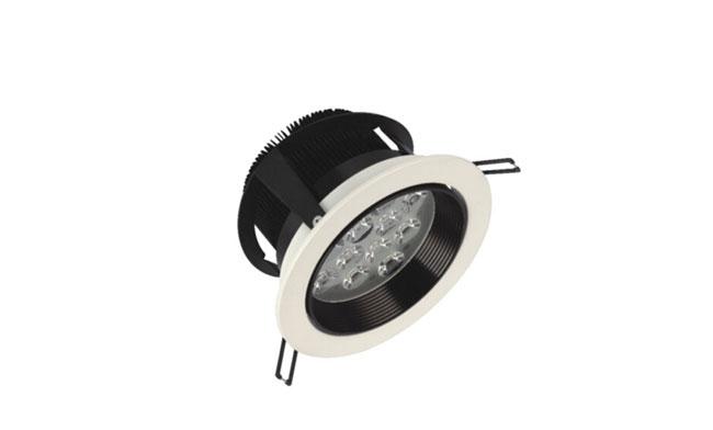 LED  9W车铝筒灯开孔135mm   黄光/白光/中性光