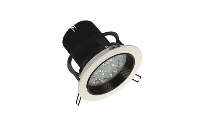 LED 15W车铝筒灯开孔150mm 黄光/白光/中性光