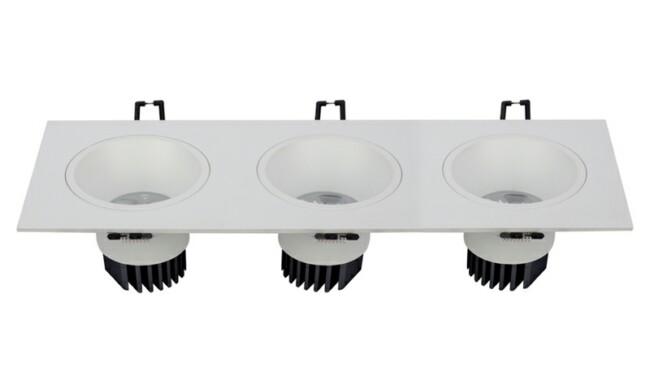 LED 9W 开孔318x90mm深孔格栅射灯