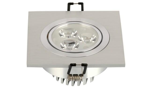 LED豆胆灯 3W 开孔83mm射灯 灯珠贴片LED 单头格栅射灯