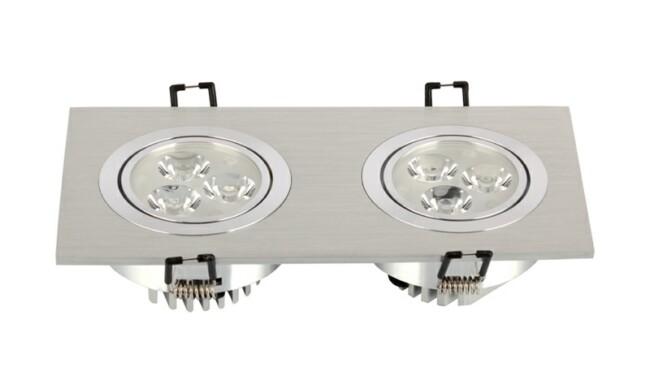 LED豆胆灯 6W 开孔178x83mm射灯 灯珠贴片LED 双头格栅射灯