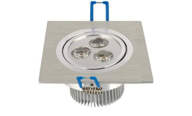 LED 3W 开孔74mm射灯单颗透镜LED单头格栅射灯