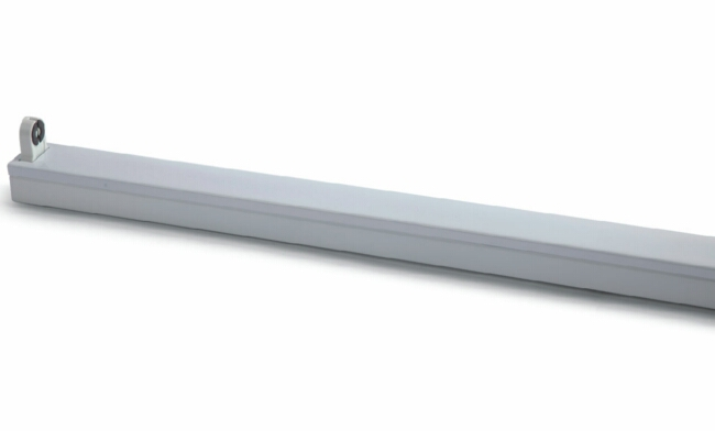 T8  1x18W LED灯管支架 单支平盖支架1232X40X60mm
