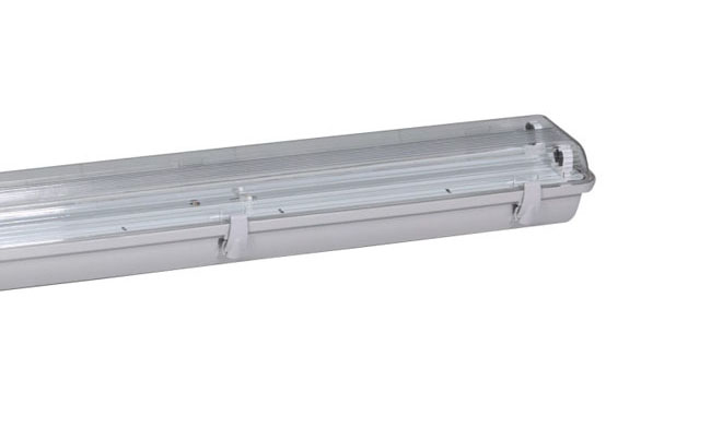 T5灯管支架 2x28W三防灯双支支架1210x100x80mm