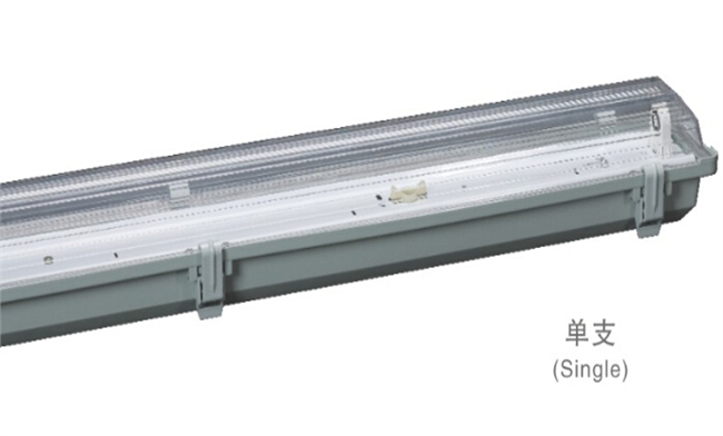 T8灯管支架 1x40W  电感/电子 三防灯单支支架1275x100x100mm