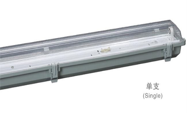 T8灯管支架 1x20W  电感/电子 三防灯单支支架675x100x100mm