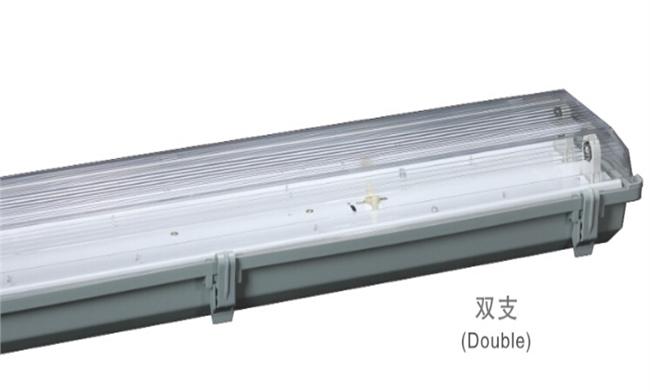 T8灯管支架 2x40W  电感/电子 三防灯双支支架1275x155x100mm