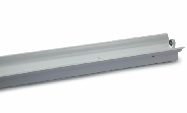 T8 1x18W LED灯管支架  单支带罩支架1232X125X70mm