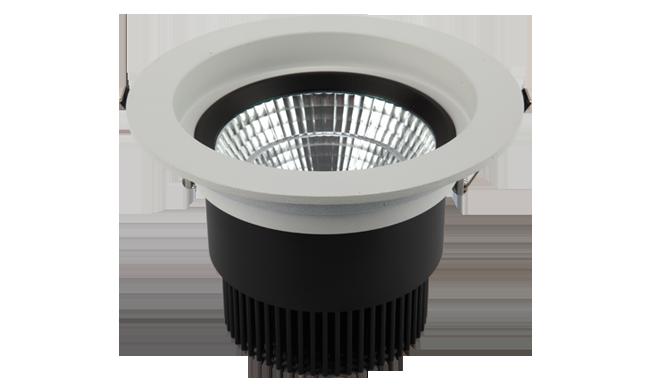 LED 6寸24W 圆形COB深孔嵌灯 开孔150mm黄光白光中性光