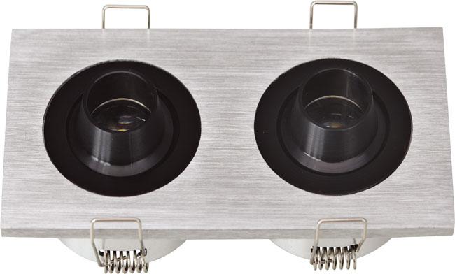 LED G03系列双头(带猪嘴)开孔99x50mm格栅射灯