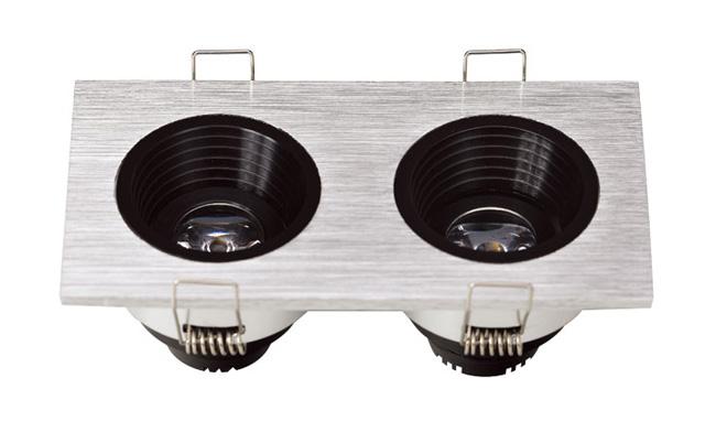 LED G04系列双头(防眩光)开孔99x50mm格栅射灯