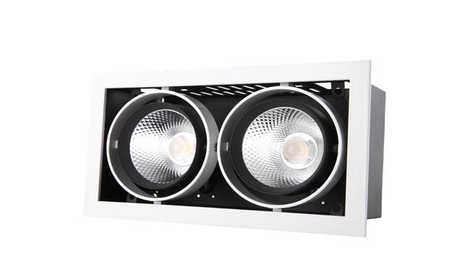 G11系列18W 双头COB格栅射灯 开孔尺寸220x115mm